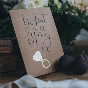 He Put A Ring On It Engagement Or Wedding Greeting Card