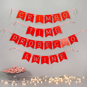 Personalised Name And Message Christmas Banner