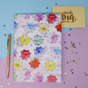 Umbrella Print A5 Notebook