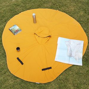 Circular Picnic Mat Reversible Into Rain Poncho - new in garden
