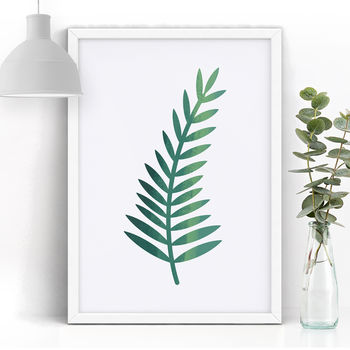 Single Fern Giclée Art Print A4 / 10x8