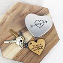 Heart Message Keyring In An Engraved Tin