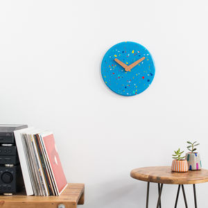 Colourful Terrazzo Wall Clock - clocks