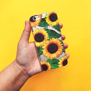 Sunflower iPhone Case - tech accessories for her