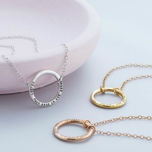 Personalised Full Circle Necklace - rose gold jewellery