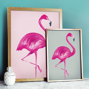 Flamingo Print Pastel Collection - animals & wildlife