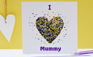 I Love Mummy Butterfly Heart Card - mother's day cards