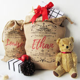 Personalised Burlap Christmas Sack - christmas decorations