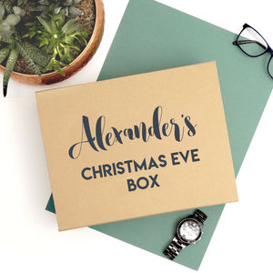 Personalised Christmas Eve Luxury Gift Box - gift boxes