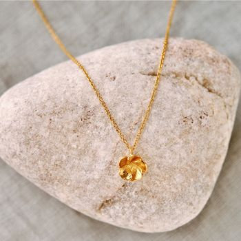 Gold Blossom Flower Necklace