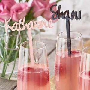 Personalised Swizzle Drinks Stirrer - kitchen