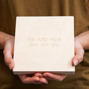 Personalised Mr And Mrs Wedding Ring Box - boxes, trunks & crates