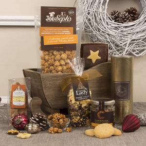 The Snowdrift Wooden Sleigh Christmas Hamper - biscuits and cookies