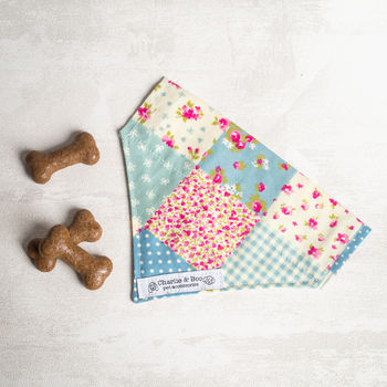 Dog Bandana/Scarf In Pink Patchwork