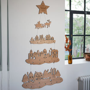 Nordic Wooden Christmas Tree Wall Hanging