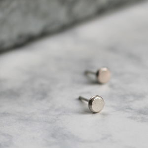 Recycled Silver Studs - women's jewellery