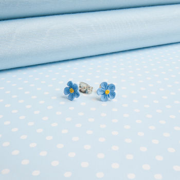 Single Forget Me Not Earrings