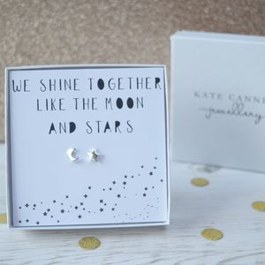 'Shine Like The Moon And Stars' Earrings - valentine's gifts for her