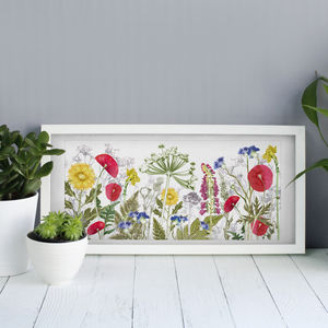 Personalised Wild Flower Landscape, Floral Art Print - new in home