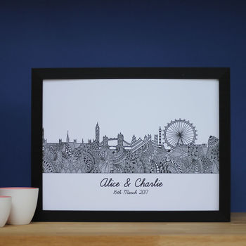 Personalised London Skyline Print
