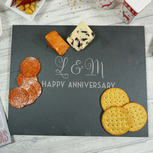 Personalised Couples Slate Cheeseboard