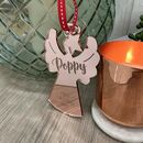 Personalised Rose Gold Angel Christmas Tree Decoration