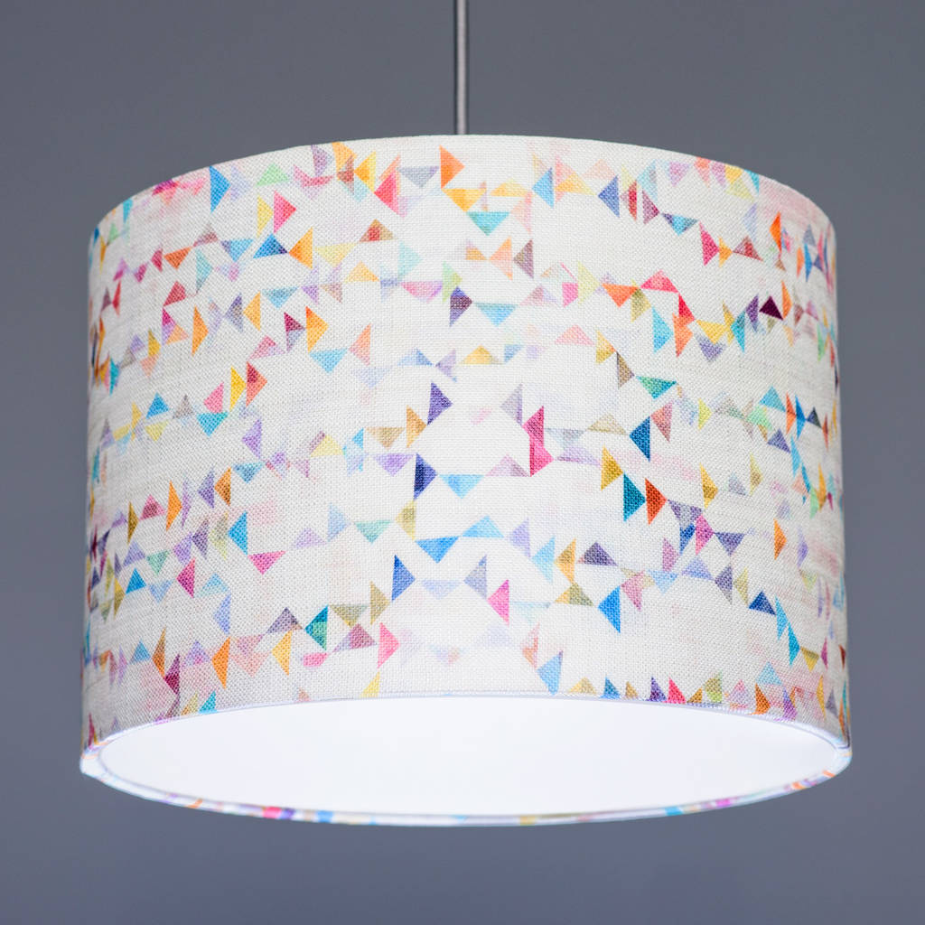 Flock Kites Fabric Lampshade