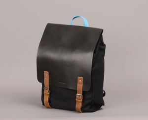 Backpack With Large Leather Flap - men's travel gifts