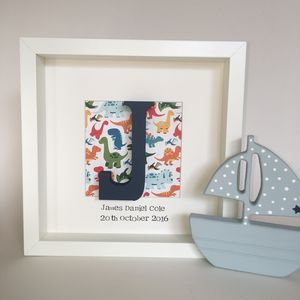 Personalised Wooden Initial Box Frame - children's pictures & paintings