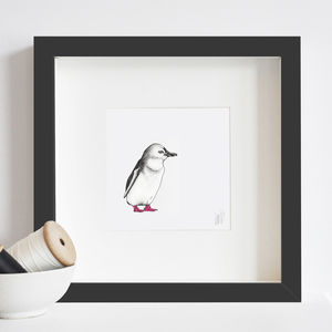 Glitter Penguin Print - children's pictures & paintings