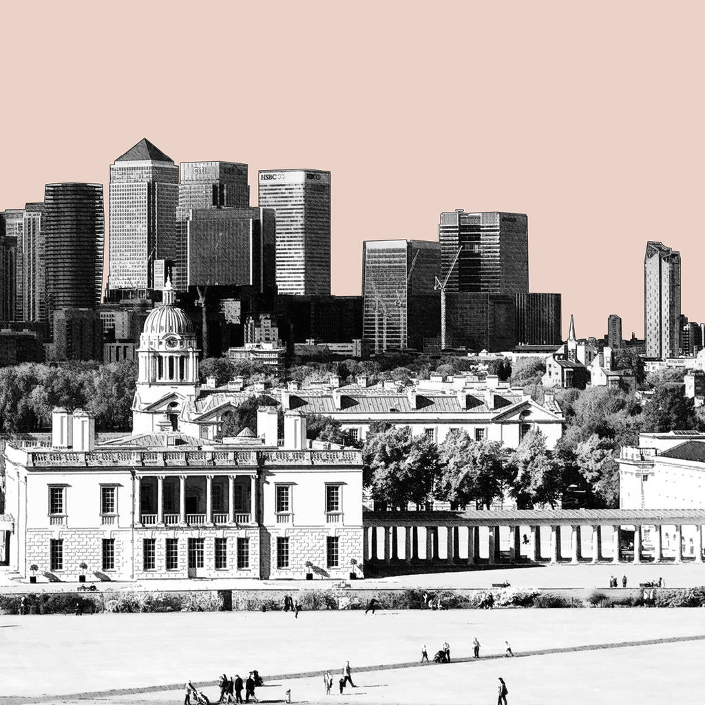 london skyline art print view from greenwich by bronagh kennedy ...