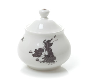 UK And Ireland Map Sugar Pot