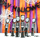 Halloween Skeleton Party Crackers With Tattoos