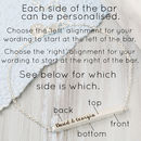 Personalised Horizontal Bar Bracelet