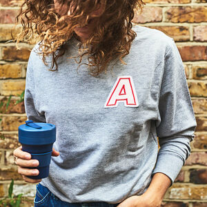 Unisex Embroidered Initial Sweatshirt