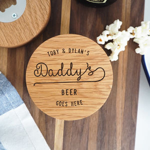 Personalised Coaster Bottle Opener