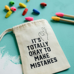 It's Okay To Make Mistakes Eraser Set
