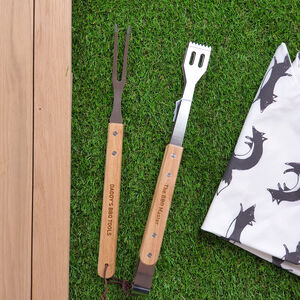 Personalised BBQ Utensils Set