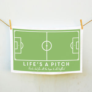 Personalised Life's A Pitch Tea Towel - kitchen accessories