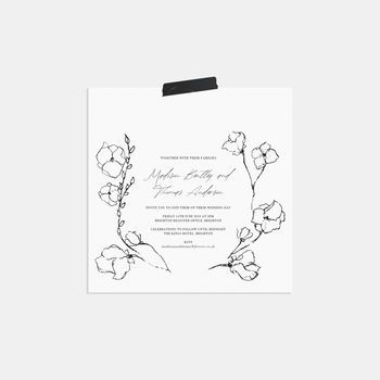 Emma Personalised Wedding Invitation