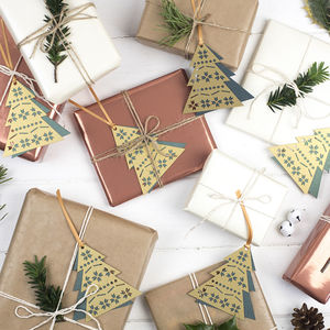 Laser Cut Christmas Tree Gift Tags - finishing touches