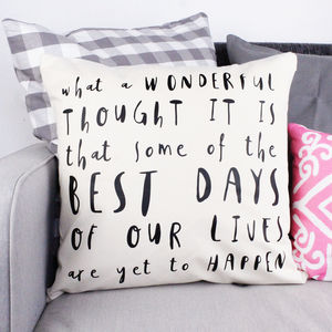 'What A Wonderful Thought' Cushion Cover - cushions
