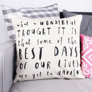 'What A Wonderful Thought' Cushion Cover