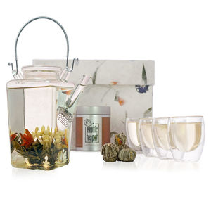 Designer Flowering Tea Gift Set - dining room