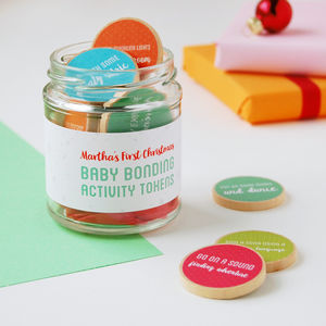 Personalised First Christmas Baby Bonding Tokens Jar - baby & child sale