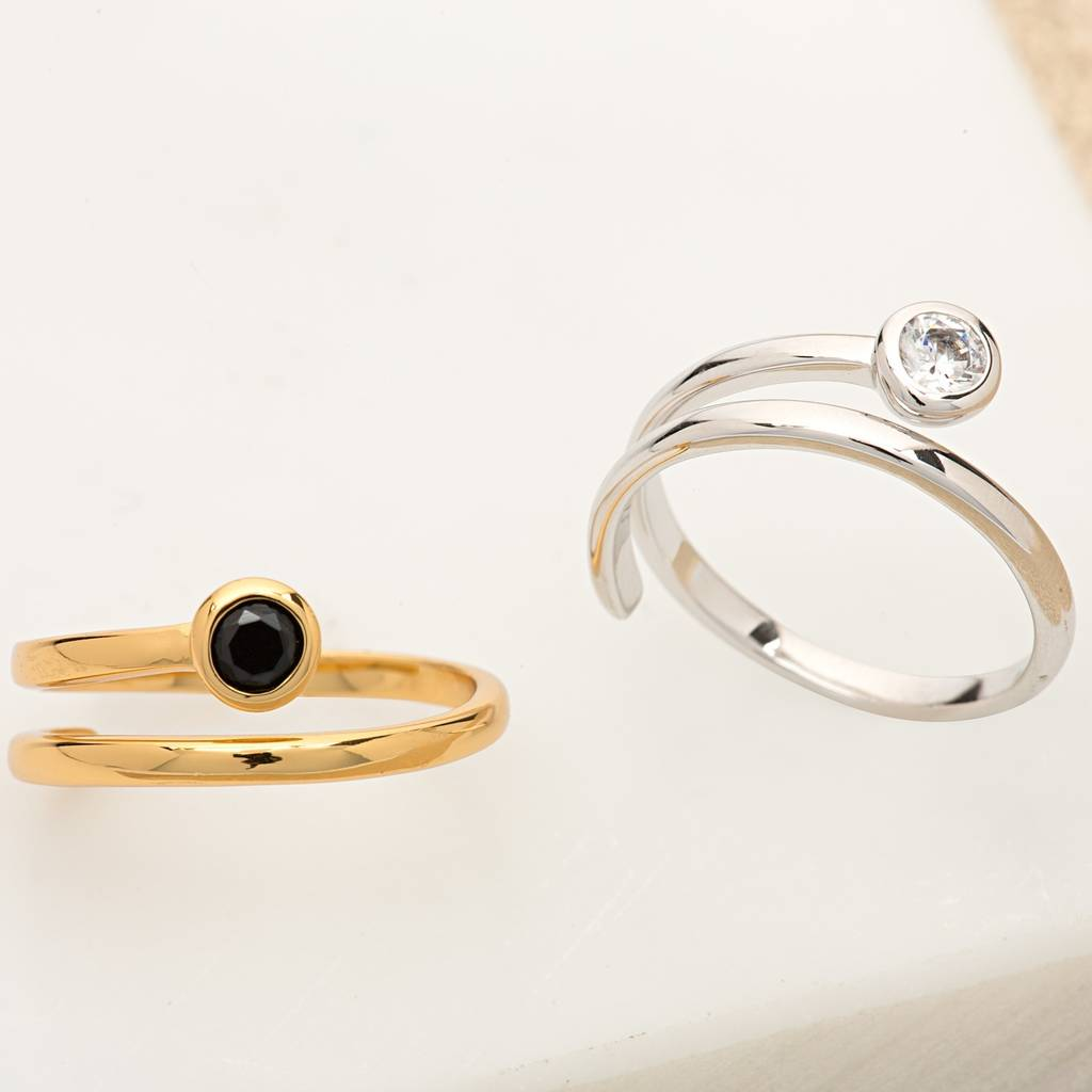 from sterling in cz silver seoul rose products rings gold open made serendipity spiral ring