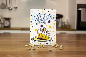 White Chocolate Brownie Greeting Card