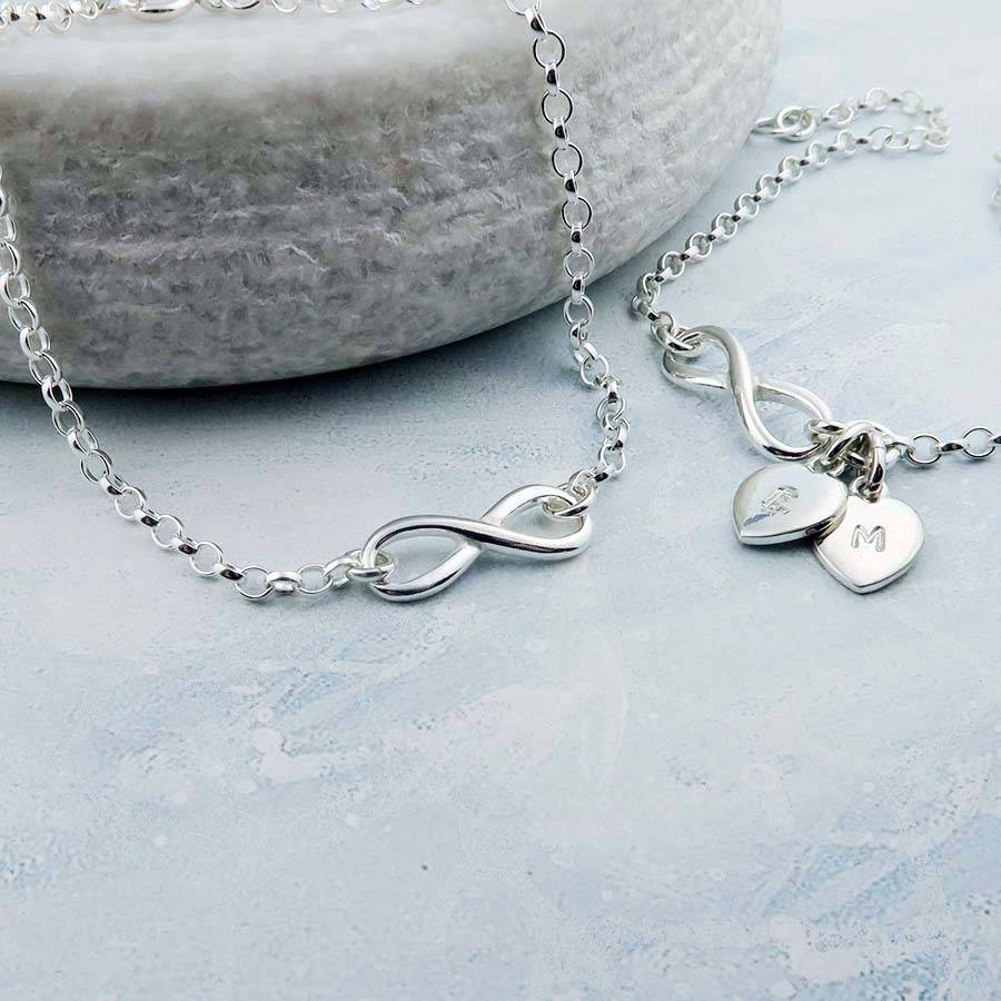 Sterling silver infinity bracelet can be personalised by wished sterling silver infinity bracelet can be personalised biocorpaavc