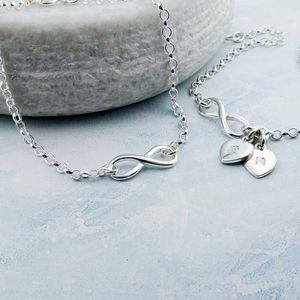Sterling Silver Infinity Bracelet Can Be Personalised
