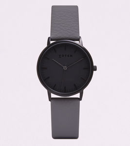 New Collection Black Vegan Leather Watch